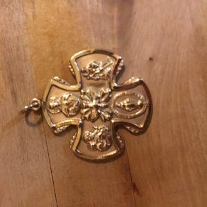 14k Catholic Medal